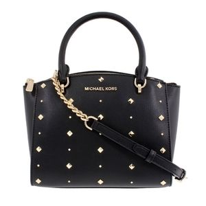 Michael Kors Ellis SM Studded Satchel Black
